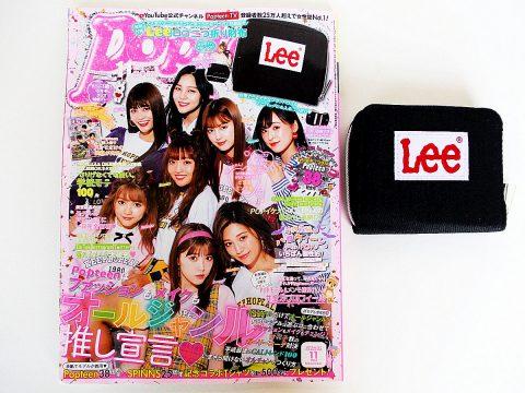 【購入レビュー】 Popteen ポップティーン 11月号 付録 Lee ロゴ二つ折り財布