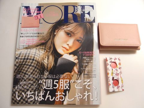 【購入レビュー】 MORE モア 12月号付録 ジルスチュアート三つ折り財布