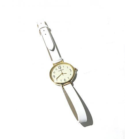 素敵なあの人 2020年3月号《特別付録》TABASA(タバサ)ホワイト腕時計【購入開封レビュー】